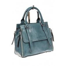 На фото 1 - Летняя женская сумка из искусственной кожи, цвет голубой