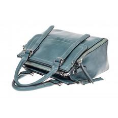 На фото 3 - Летняя женская сумка из искусственной кожи, цвет голубой