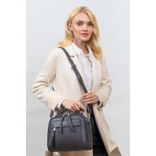 На фото 1 -  Женская каркасная сумка из гладкой экокожи, цвет серый