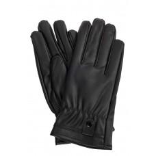 На фото 1 - Перчатки женские из искусственной кожи, цвет чёрный