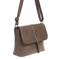 На фото 1 - Женская сумка кросс-боди из экокожи, цвет кофе