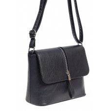 На фото 1 - Женская сумка кросс-боди из экокожи, цвет тёмно-синий