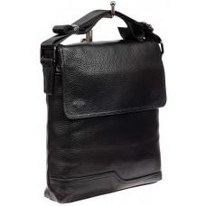 На фото 1 - Мужская сумка-планшет из натуральной кожи, цвет черный