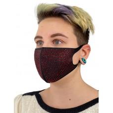 На фото 1 - Женская защитная маска со стразами, цвет чёрный