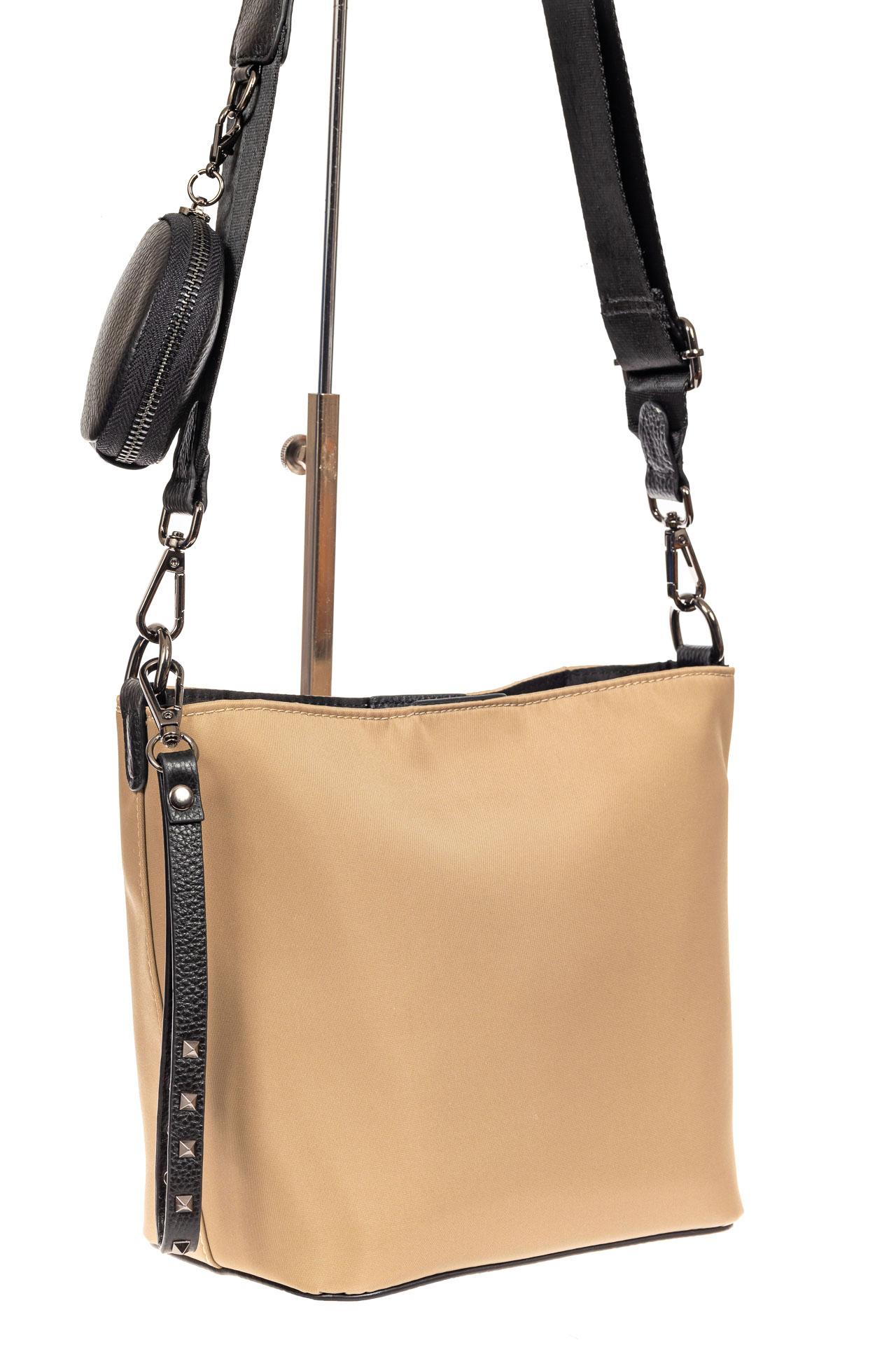 Текстильная женская сумка, цвет бежевый7912NK0820/10