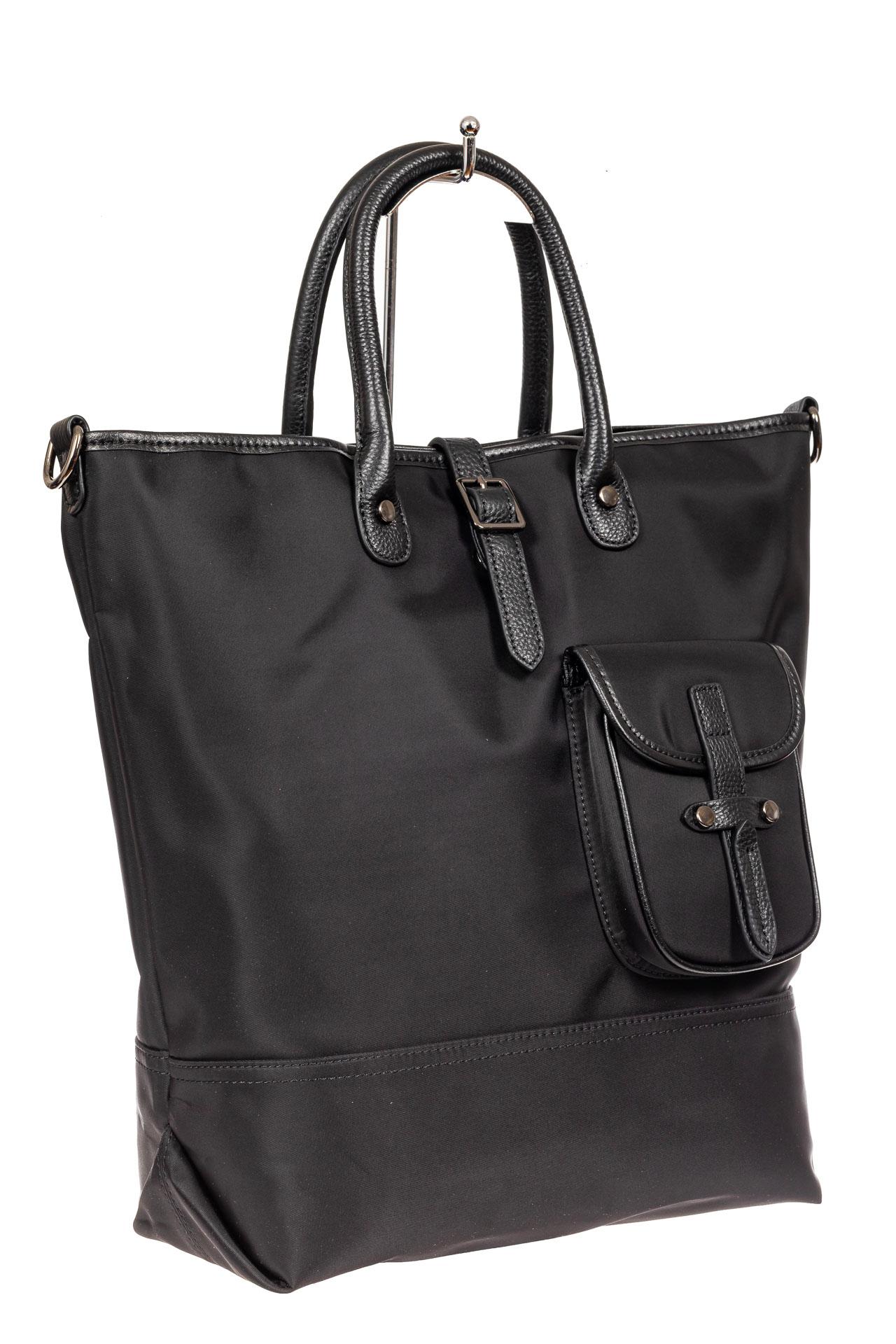 Текстильная женская сумка тоут, цвет черный7915NK0820/1