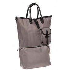 На фото 1 - Текстильная женская сумка тоут, цвет серый