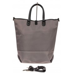 На фото 3 - Текстильная женская сумка тоут, цвет серый