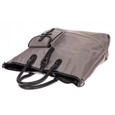 На фото 4 - Текстильная женская сумка тоут, цвет серый