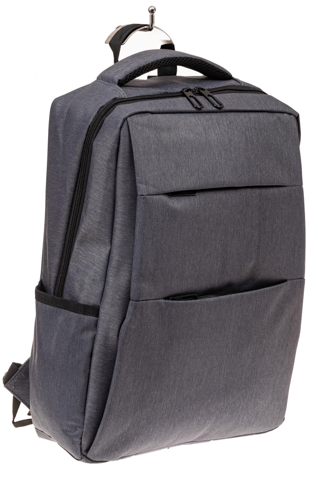 На фото 1 - Футуристичный мужской рюкзак из текстиля, цвет серый