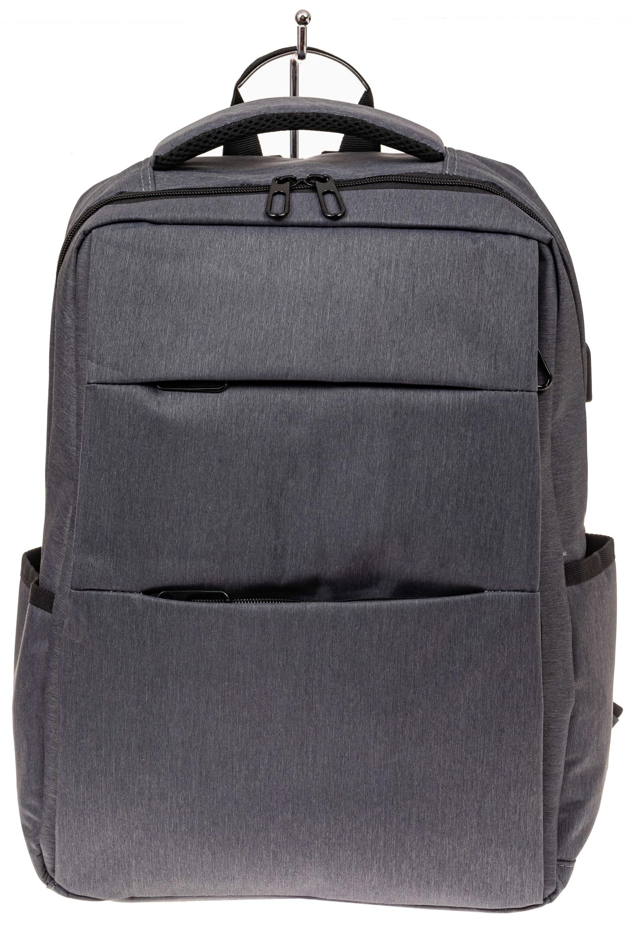 На фото 2 - Футуристичный мужской рюкзак из текстиля, цвет серый