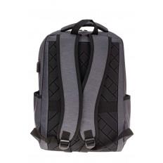 На фото 3 - Футуристичный мужской рюкзак из текстиля, цвет серый