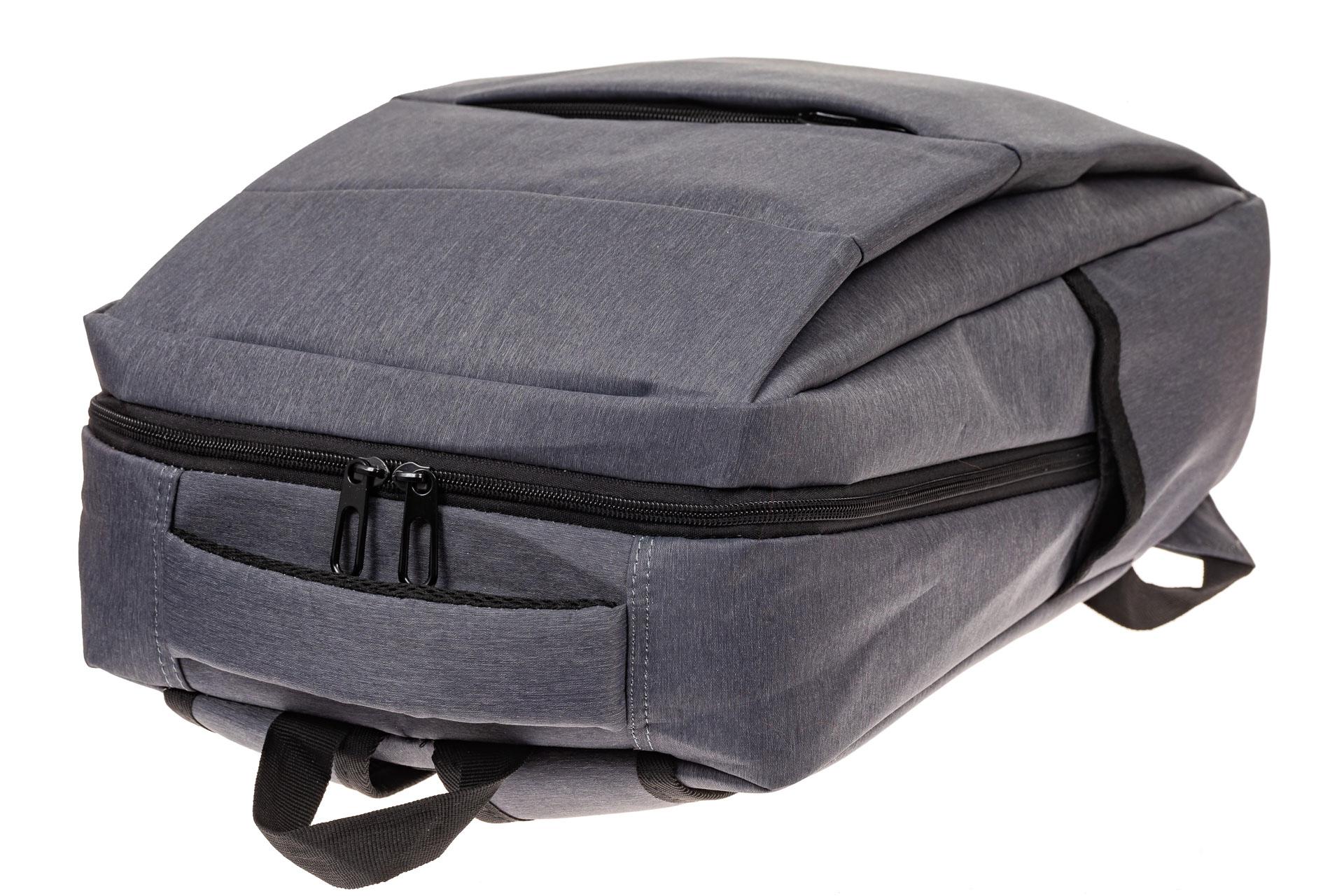 На фото 4 - Футуристичный мужской рюкзак из текстиля, цвет серый
