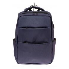 На фото 2 - Футуристичный мужской рюкзак из текстиля, цвет синий