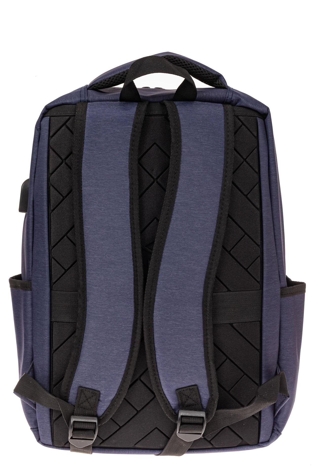 На фото 3 - Футуристичный мужской рюкзак из текстиля, цвет синий