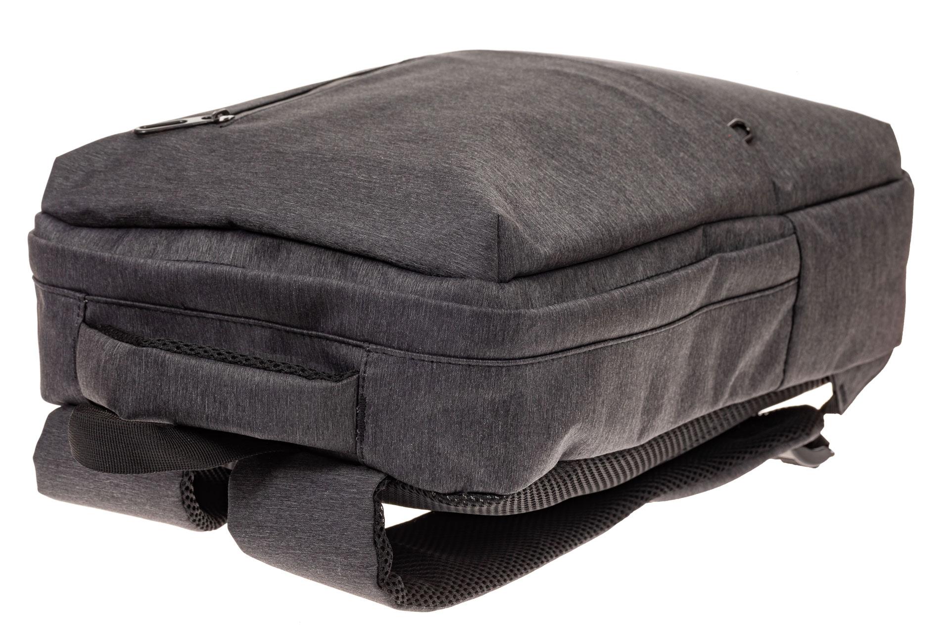 На фото 4 - Строгий мужской рюкзак из текстиля, цвет темно-серый