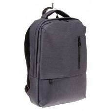На фото 1 - Строгий мужской рюкзак из текстиля, цвет се...