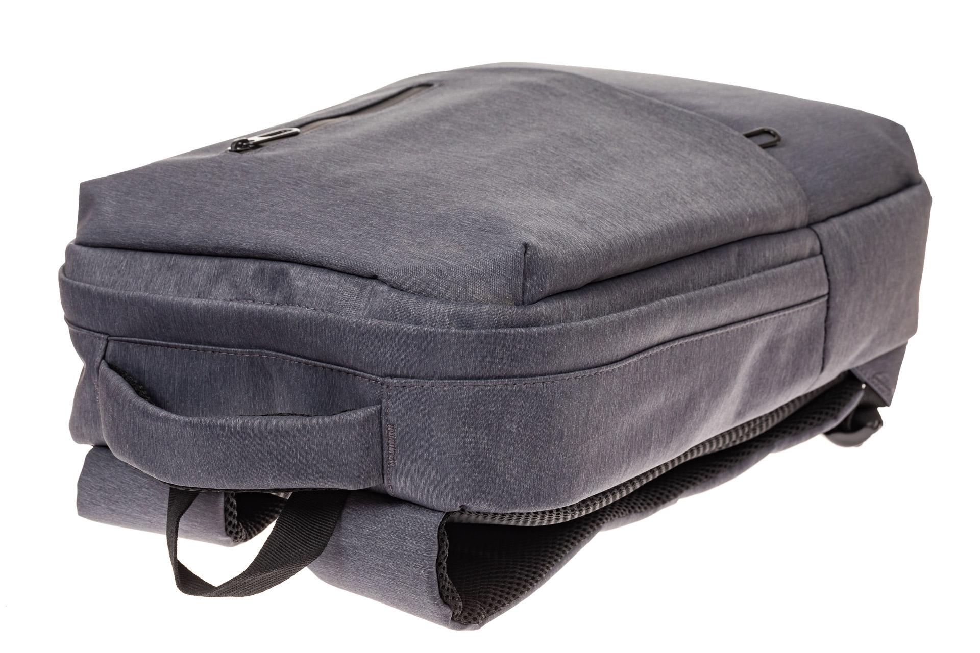 На фото 4 - Строгий мужской рюкзак из текстиля, цвет серый