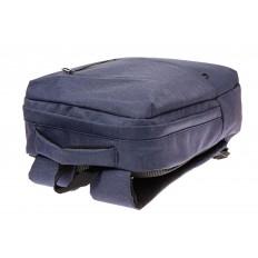 На фото 4 - Строгий мужской рюкзак из текстиля, цвет синий