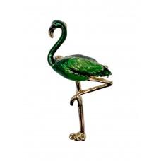 На фото 1 - Ювелирная брошь бижутерия в форме фламинго