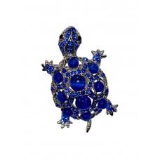 На фото 1 - Брошь в виде черепахи с камнями и стразами