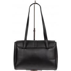 На фото 3 - Женская сумка-сэтчел из искусственной кожи, цвет чёрный
