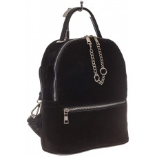 На фото 1 - Женский рюкзак из натуральной замши, цвет ч...