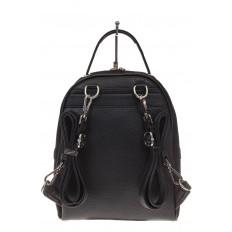 На фото 3 - Женский рюкзак из натуральной замши, цвет черный