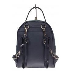 На фото 3 - Женский рюкзак из натуральной замши, цвет серо-синий
