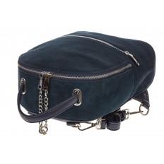 На фото 4 - Женский рюкзак из натуральной замши, цвет серо-синий