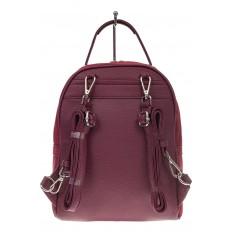 На фото 3 - Женский рюкзак из натуральной замши, цвет бордовый