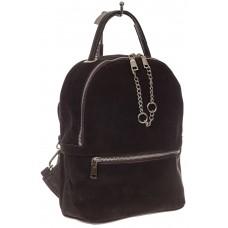 На фото 1 - Женский рюкзак из натуральной замши, цвет кофе