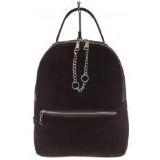 На фото 2 - Женский рюкзак из натуральной замши, цвет кофе