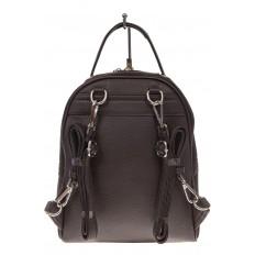 На фото 3 - Женский рюкзак из натуральной замши, цвет кофе