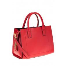 на фото Красная женская сумка из натуральной кожи 8001MK5