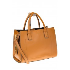 на фото Рыжая женская сумка из натуральной кожи 8001MK5