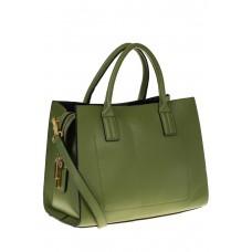 на фото Зеленая женская сумка из натуральной кожи 8001MK5