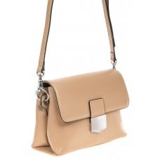На фото 1 - Сумка-портфель из натуральной кожи, цвет бе...