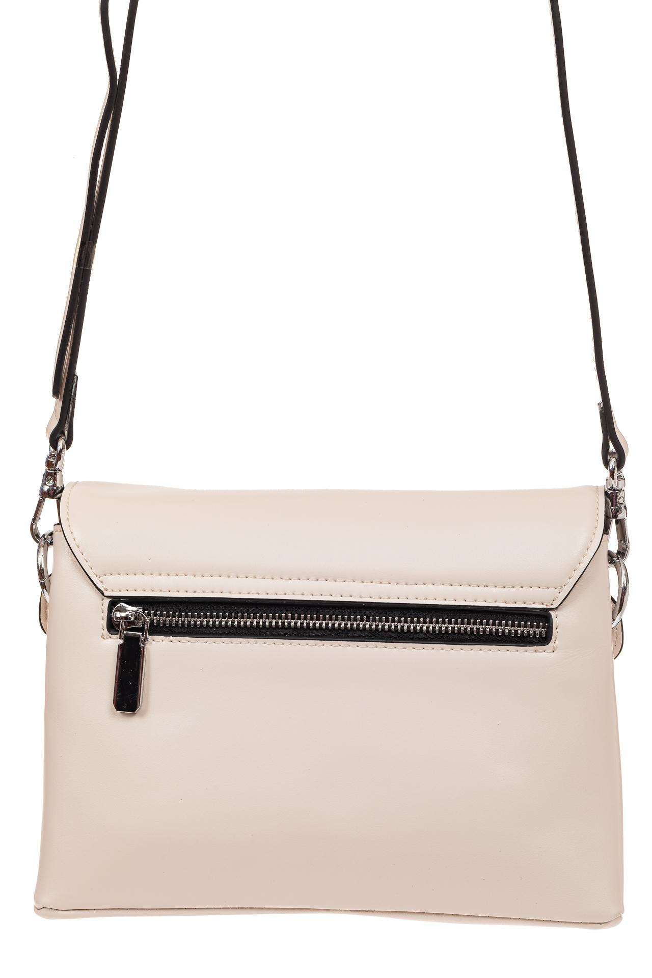 На фото 2 - Сумка-портфель из натуральной кожи, цвет белый