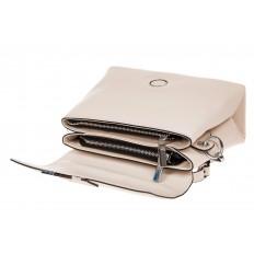 На фото 3 - Сумка-портфель из натуральной кожи, цвет белый