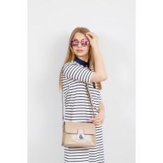 На фото 4 - Сумка-портфель из натуральной кожи, цвет белый