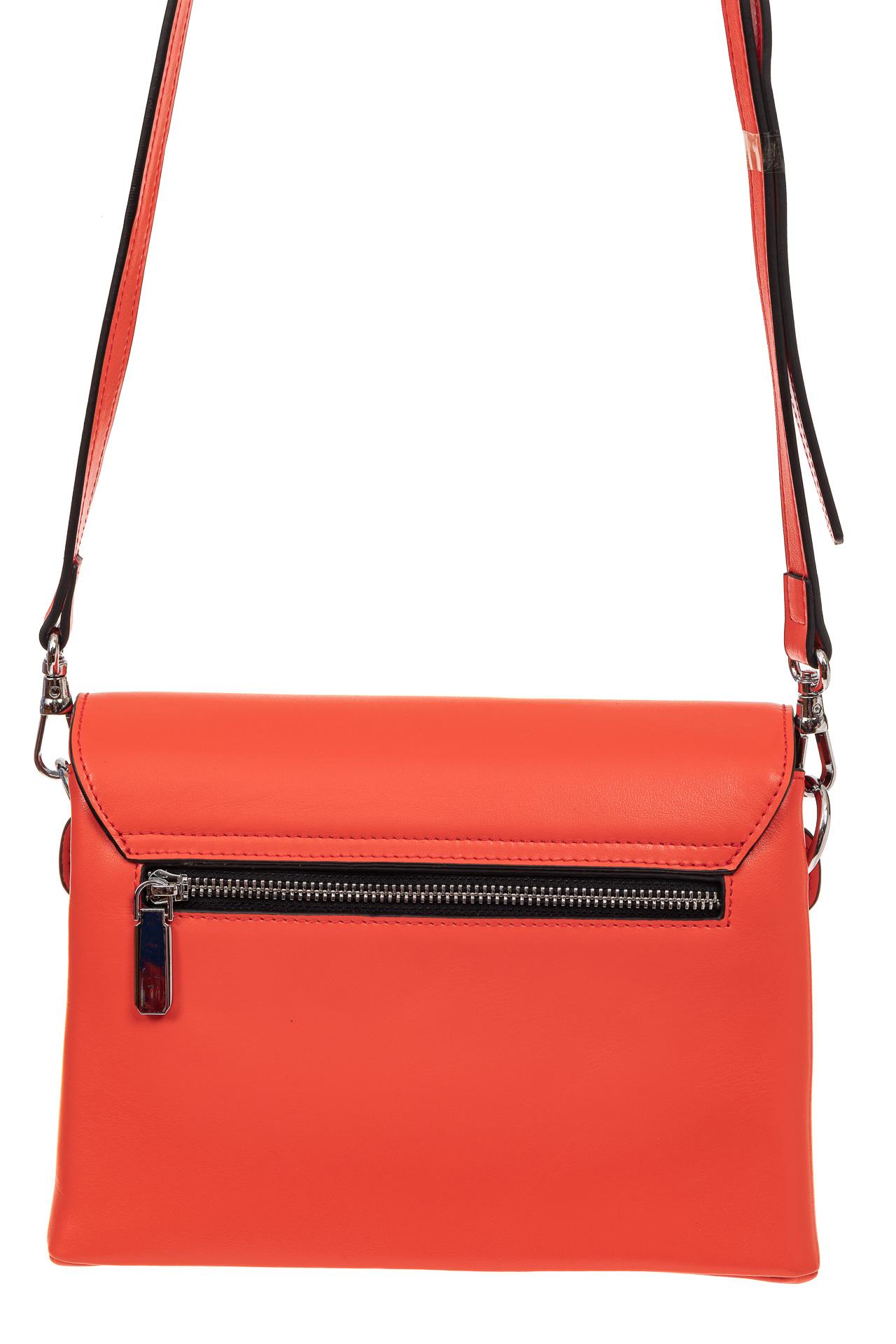 На фото 2 - Сумка-портфель из натуральной кожи, цвет красный