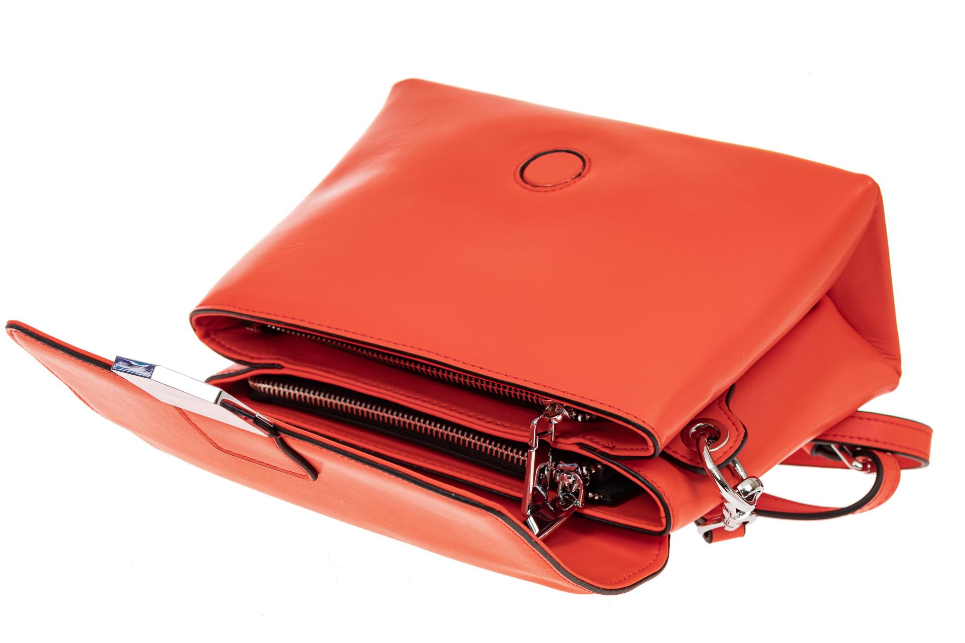 На фото 3 - Сумка-портфель из натуральной кожи, цвет красный