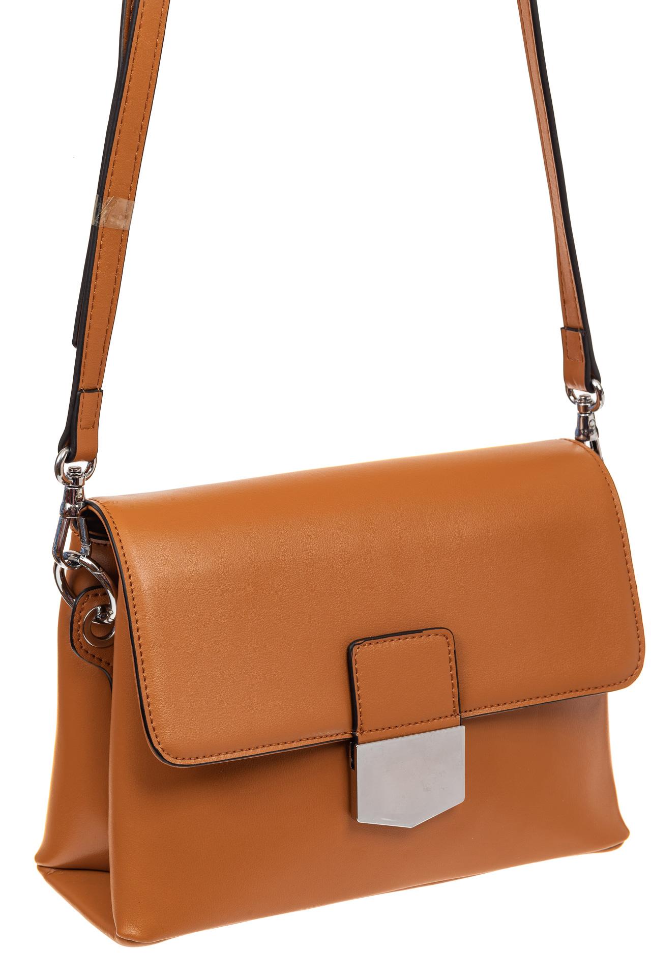Сумка-портфель из натуральной кожи, цвет коричневый8002KNJ5/8