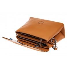 На фото 3 - Сумка-портфель из натуральной кожи, цвет коричневый