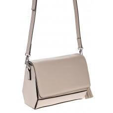 на фото Маленькая сумочка из натуральной кожи белого цвета 8002MK5