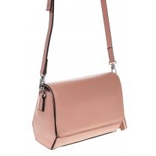 на фото Маленькая сумочка из натуральной кожи розового цвета 8002MK5