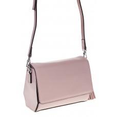 на фото Маленькая сумочка из натуральной кожи светло-розового цвета 8002MK5