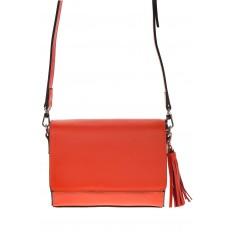 На фото 2 - Маленькая сумочка из натуральной кожи красного цвета 8002MK5