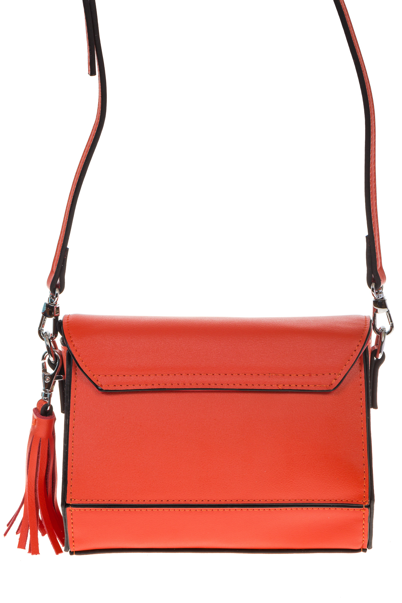 На фото 3 - Маленькая сумочка из натуральной кожи красного цвета 8002MK5